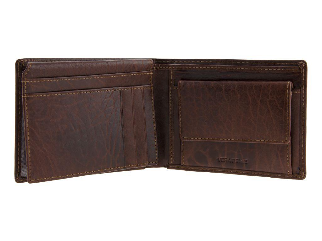 Portafoglio uomo pelle portamonete portadocumenti marrone for Portafoglio uomo