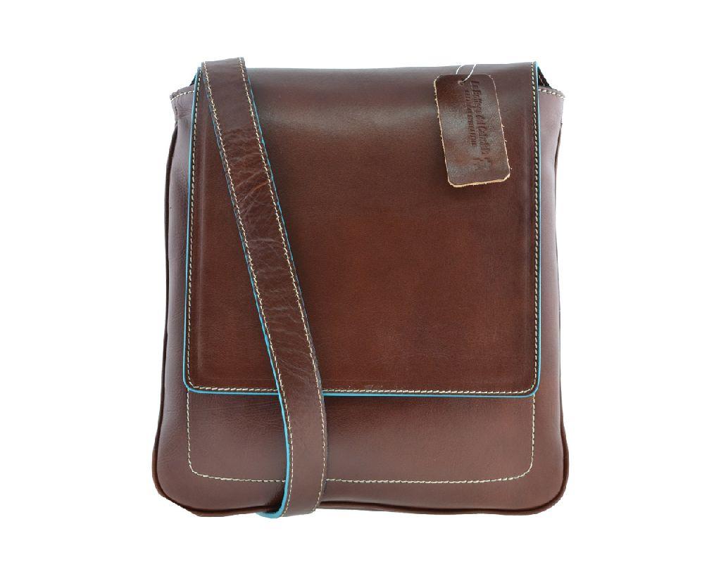 Borsa borsello uomo tracolla pelle cuoio porta ipad tablet marrone c15c300b795