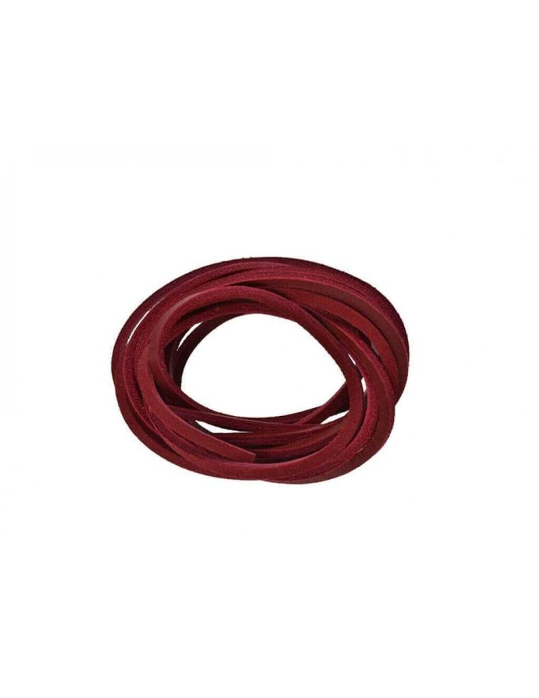 1ae68374a6cd0 Lacci in cuoio per Timberland 120 cm rosso