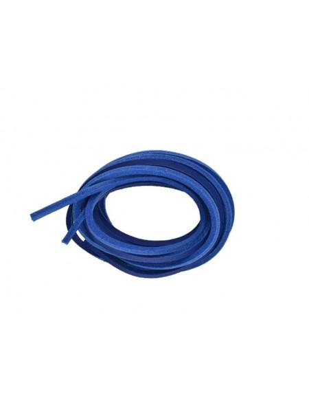 Lacci in cuoio per timberland 120 cm blu elettrico
