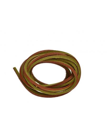 Lacci in cuoio per Timberland da 120 cm color cuoio e giallo