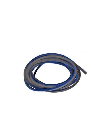 Lacci in cuoio per Timberland da 120 cm grigio e blu elettrico