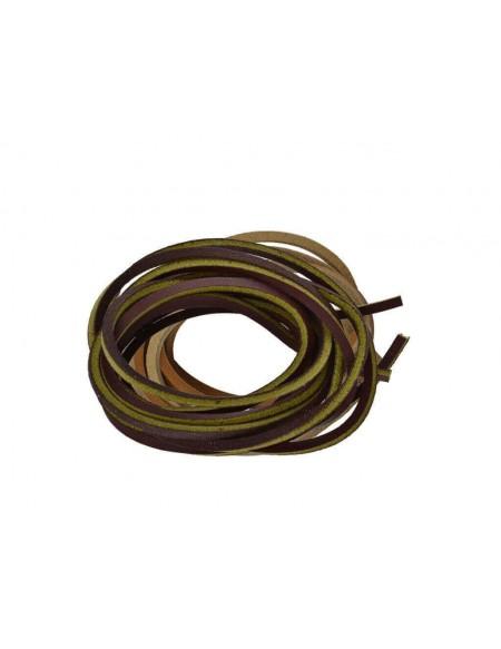 Lacci in cuoio per Timberland da 120 cm marrone e giallo