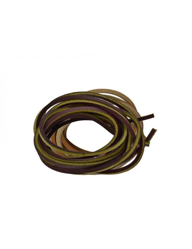 d0d6a320b7 Lacci in cuoio per Timberland da 120 cm marrone e giallo