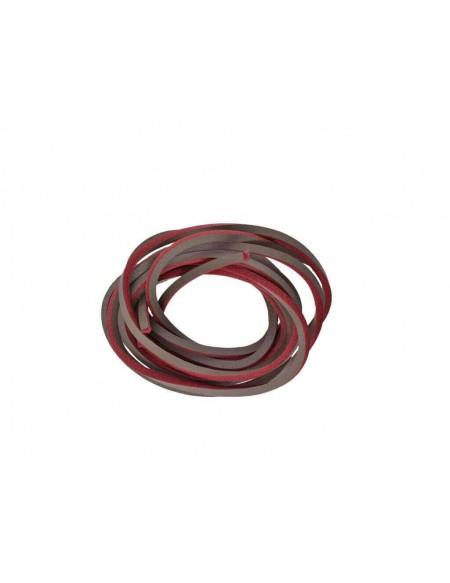 Lacci in cuoio per Timberland da 120 cm nero grigio e rosso