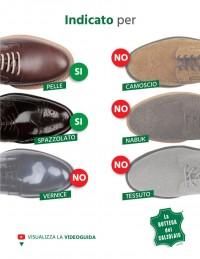 Lucido scarpe in pelle marrone
