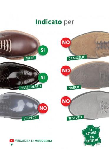 Lucido per scarpe in pelle marrone scuro
