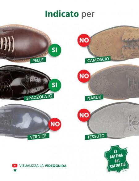 Lucido in crema per scarpe borse e accessori in pelle marrone scuro