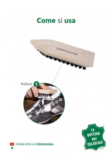Spazzola per pulire le scarpe in camoscio nabuk tela e pelle liscia