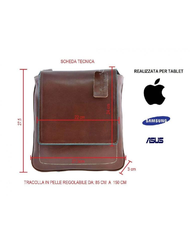 c6f01cca23 ... Borsa borsello uomo tracolla pelle cuoio porta ipad tablet ...