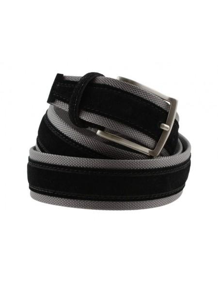 Cintura uomo tela e camoscio 4 cm