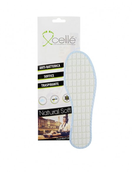 Soletta scarpe antiodore in lattice e allume di potassio 2 pz