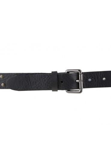 Cintura uomo donna in cuoio nero con borchie