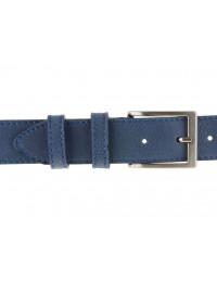 Cintura pelle uomo stile casual cuoio blu