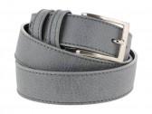 Cintura pelle uomo stile casual cuoio grigio