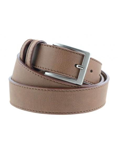 Cintura pelle uomo stile casual cuoio marrone