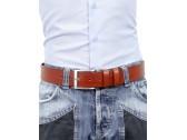 Cintura uomo in cuoio marrone da 4 cm