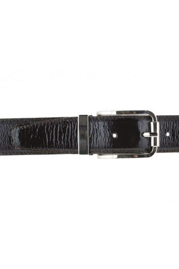 Cintura uomo in pelle vitello spazzolato elegante marrone scuro