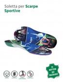 Coppia di solette per scarpe sportive ritagliabili