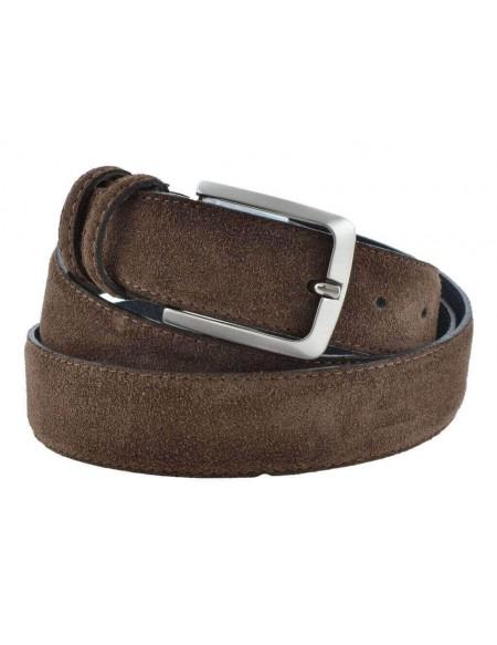 Cintura da uomo in camoscio artigianale marrone