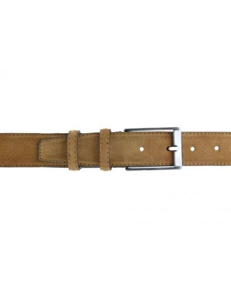 Cintura da uomo in camoscio artigianale cammello