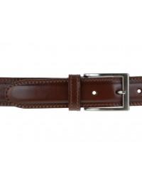 Cintura in pelle marrone da uomo con impunture,artigianale