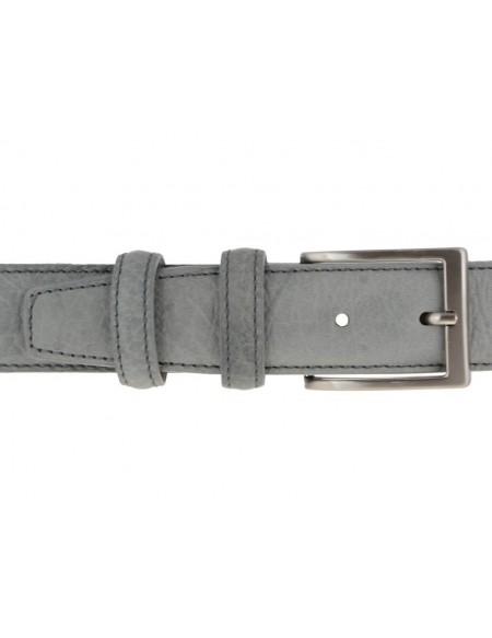 Cintura uomo in pelle stampa elefante grigia