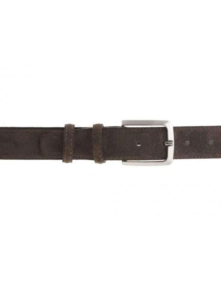Cintura da uomo marrone in camoscio artigianale