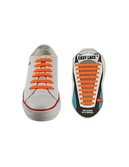 Lacci scarpe elastici in silicone arancione