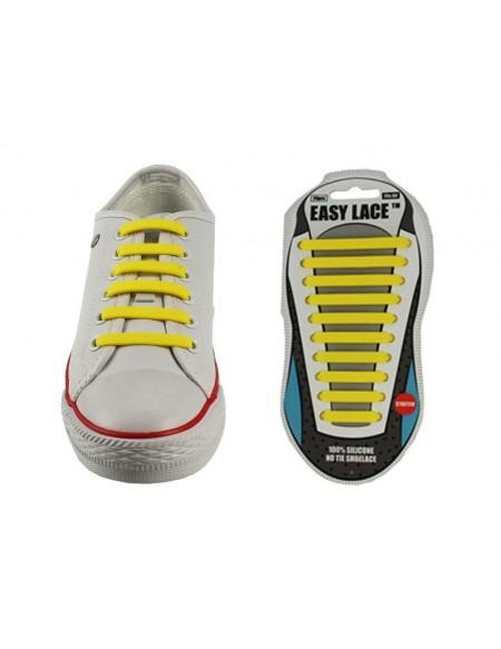 Lacci scarpe elastici in silicone giallo