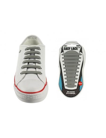 Lacci scarpe elastici in silicone grigio