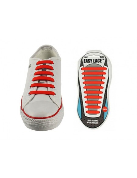 Lacci scarpe elastici in silicone rosso