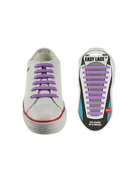 Lacci scarpe elastici in silicone viola