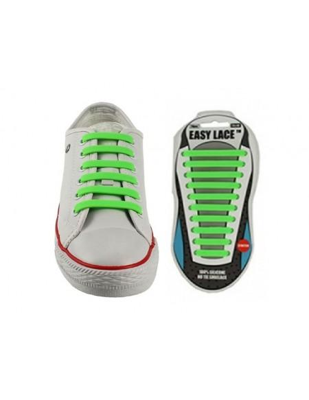 Lacci scarpe elastici in silicone verde