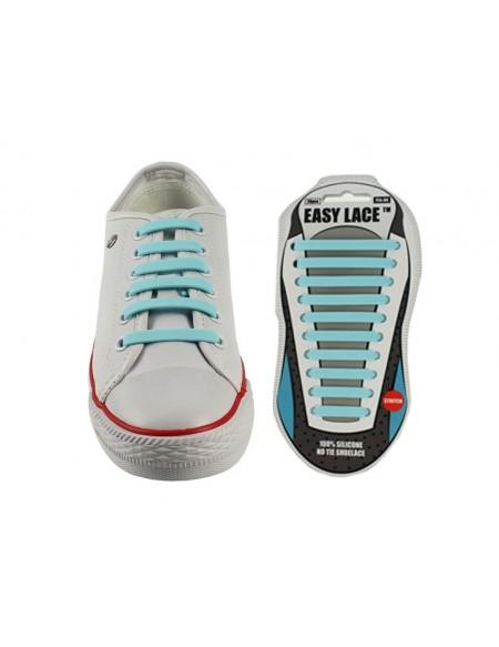 Lacci scarpe elastici in silicone turchese