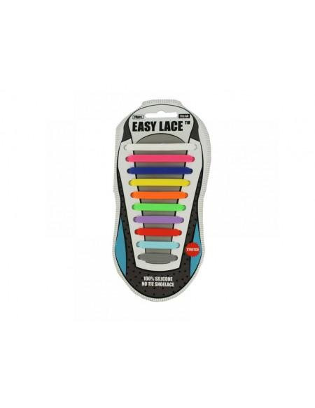 Lacci scarpe elastici in silicone multicolore