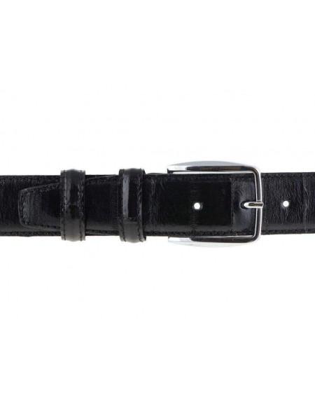 Cintura uomo pelle anguilla nera