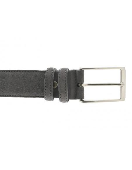 Cintura da uomo in camoscio artigianale grigia