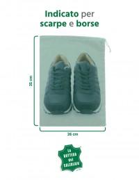 Sacchetti di stoffa per scarpe uomo e donna