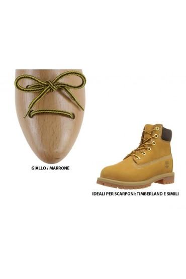Lacci Timberland marrone e giallo