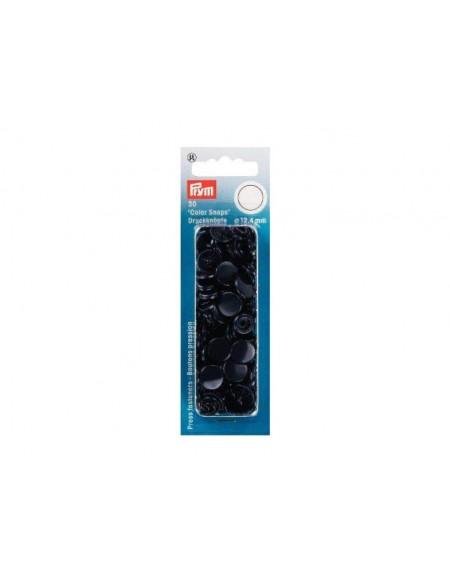 Bottoni a pressione in plastica blu notte Prym 30 pz