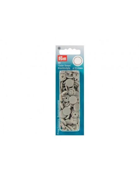 Bottoni a pressione in plastica grigio Prym 30 pz