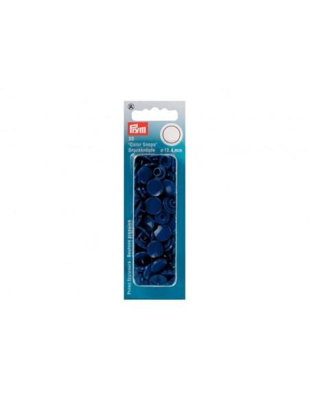 Bottoni a pressione in plastica blu Prym 30 pz