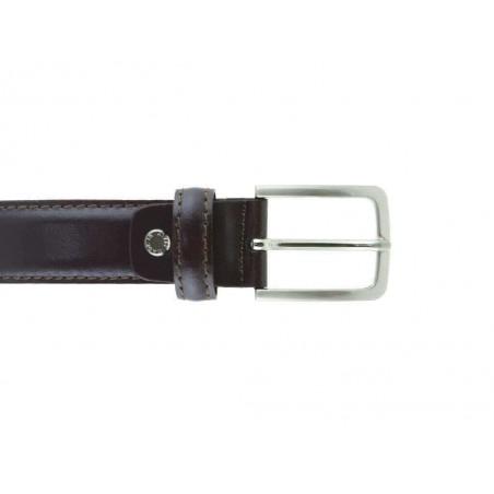 Cintura uomo in pelle marrone classica elegante 3 cm artigianale