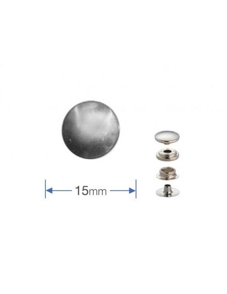 Bottoni a pressione in metallo Prym per pelli e tessuti