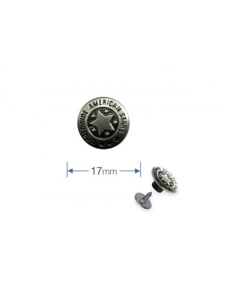 Bottoni a pressione in argento anticato Prym per jeans