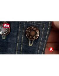 Bottoni a pressione in metallo Prym con alloro per jeans