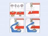Bottoni a pressione in metallo Prym per pelli 12 mm