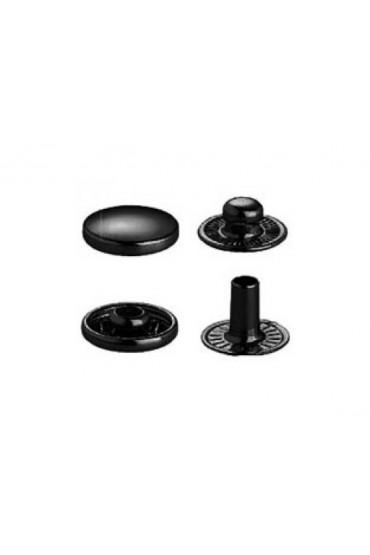 Bottoni a pressione in metallo nero Prym per pelli 12 mm
