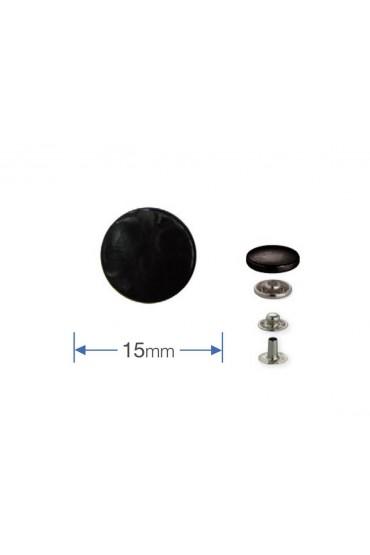 Bottoni a pressione in metallo nero Prym da 15 mm